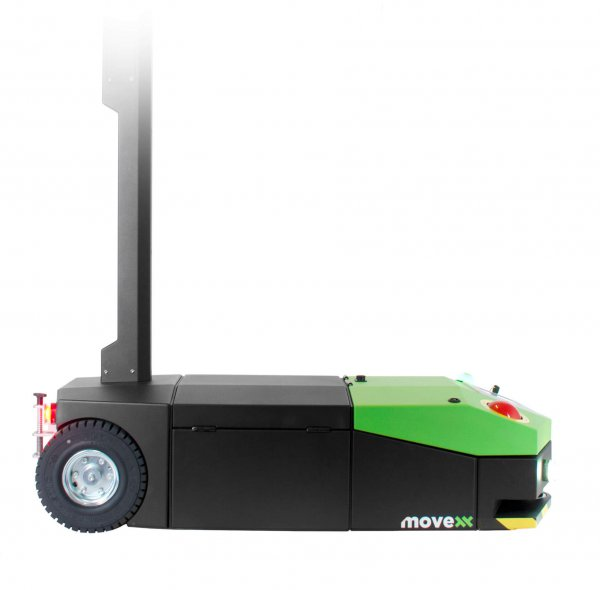 AGV2500 automated guided vehicle electric tug side view
