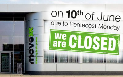 Movexx is closed on Monday 10 June (Pentecost)