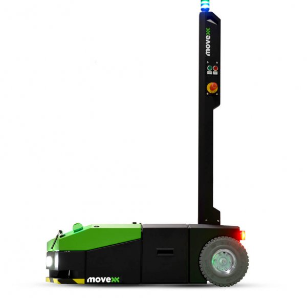 The side view of the AGV1000 Automated Guided Vehicle