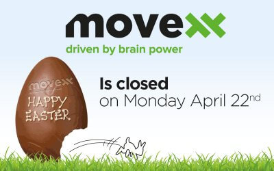Movexx is closed on Easter Monday, 22rd of April 2019.