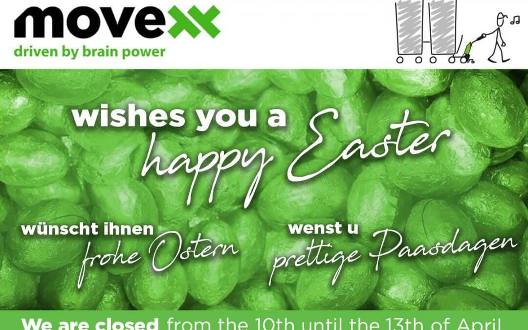 Movexx will be closed from 10 to 13 April.